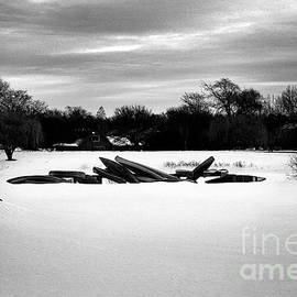 Frank J Casella - Canoes in the Snow - Monochrome