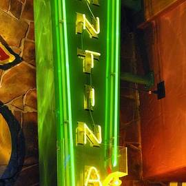 ARTography by Pamela  Smale Williams - CANTINA NEON SIGN IN BRIGHT GREEN and YELLOW