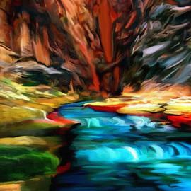 Bob and Nadine Johnston - Canyon Waterfall Impressions