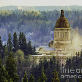Jean OKeeffe Macro Abundance Art - Capitol Mist