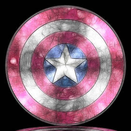Georgeta Blanaru - Captain America Shield digital painting
