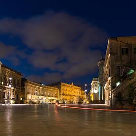 Georgia Mizuleva - Car Trails on the Magical Duomo Square in Ortygia Syracuse Sicily Italy