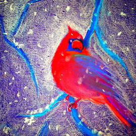 Sue Jacobi - Cardinal in snow