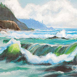 Bob and Nadine Johnston - Carmel California Pacific Ocean Seascape Painting