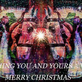 Tisha McGee - Carousel Christmas Greetings-Card