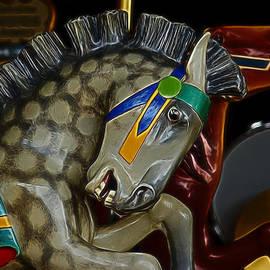 Ernie Echols - Carousel Horses Digital Art