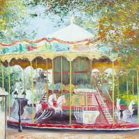 Jan Matson - Carousel in Montmartre Paris