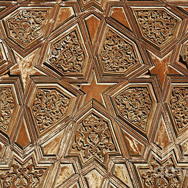 Robert Preston - Carved wooden door at the Abdullah Khan Medressa at Bukhara in Uzbekistan