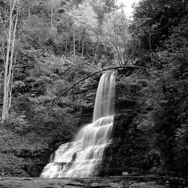 Matt Plyler - Cascade Falls in Black and White - Giles County Virginia waterfall