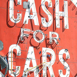 John Wayland - Cash For Cars Vintage Neon Sign In Las Vegas Nevada