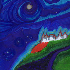 First Star Art  - Castle on the Cliff by jrr
