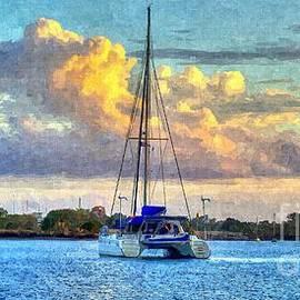 Geoff Childs - Cat and Clouds at Dawn- Sunrise Lake Macquarie.