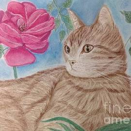 Cybele Chaves - Cat and Flower