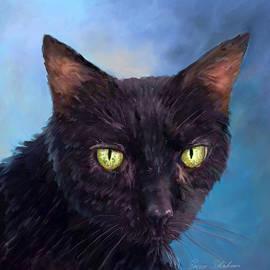Enzie Shahmiri - Cat Pet Portraits by NC - Green Eyes