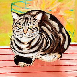 Art by Danielle - Cat relaxing
