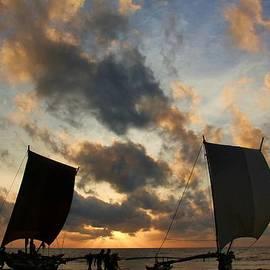 Ajithaa Edirimane - Catamarans at Sunset