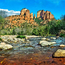 Steven Barrows - Cathedral Rock In Spring