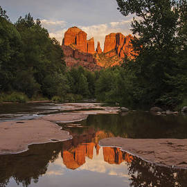 Lee Kirchhevel - Cathedral Rock Sunset Reflection 4