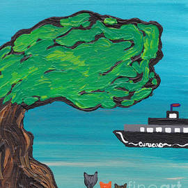 Melissa Vijay Bharwani - Cats Under the Tree Enjoying the View