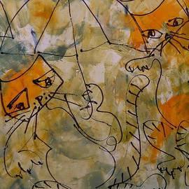 Sonja  Zeltner - Cats With Umbrella