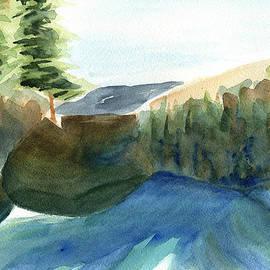 Frank Bright - Cauterskill Falls Watercolor By Frank Bright