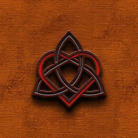 Brian Carson - Celtic Knotwork Valentine Heart Canvas Texture 1 Vertical