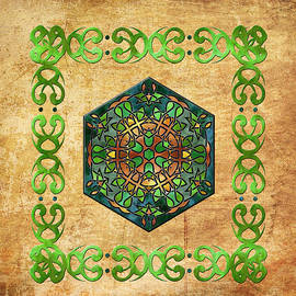 Kandy Hurley - Celtic Stained Glass Diamond