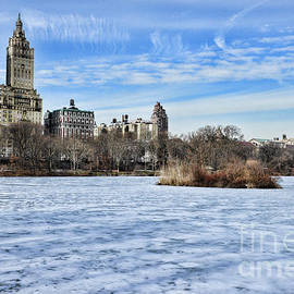 Paul Ward - Central Park Lake Looking West