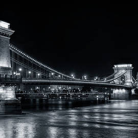 Joan Carroll - Chain Bridge Night BW