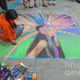 Ram Vasudev - Chalk Art - Father