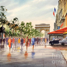Bill Holkham - Champs Elysees and Arc De Triomphe