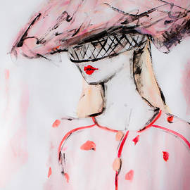 Wendy Buiter - Chanel Haute Couture Spring Summer 2015 Chanel inspired painting of the SS 2015 Haute Couture Show