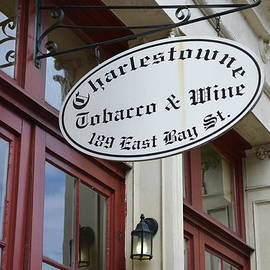 Linda Covino - Charleston Tobacco and Wine sign