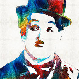 Sharon Cummings - Charlie Chaplin Art - Oh Charlie - By Sharon Cummings