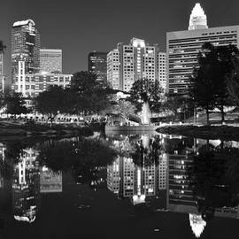 Frozen in Time Fine Art Photography - Charlotte Reflecting in Black and White
