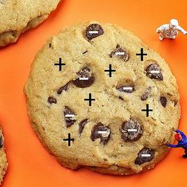 Paul Ge - Chef depicting Thomson Atomic model by cookies food physics