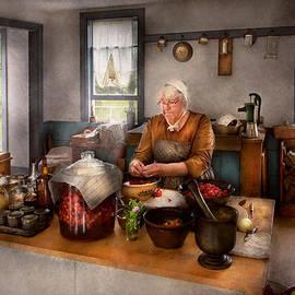 Mike Savad - Chef - Kitchen - Cleaning cherries