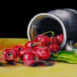 Jean Cormier - Cherries And a Pewter Cup