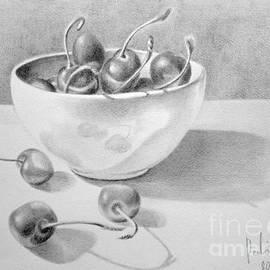 Eleonora Perlic - Cherries In White Bowl