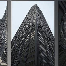 Thomas Woolworth - Chicago Abstract Before And After John Hancock SW Facades Triptych 3 Panel