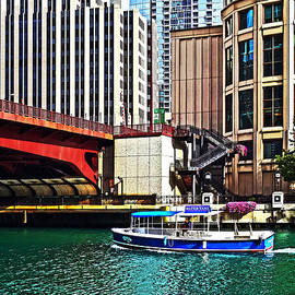 Susan Savad - Chicago IL - Water Taxi by Columbus Drive Bridge