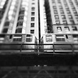 Paul Velgos - Chicago L Train In Black And White