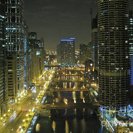 Ann Horn - Chicago River at Night