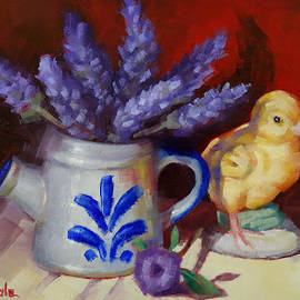 Margaret Stockdale - Chicken And Lavender Still Life