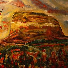 Maureen Janssens - Chief Moutain - Twilight sunset