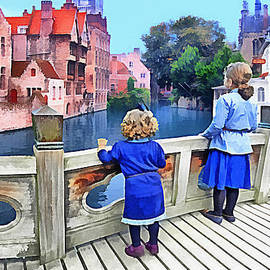 Nina Bradica - Children on a Bridge