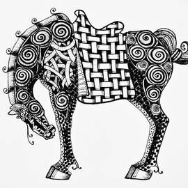 Jani Freimann - Chinese Horse - Zentangle