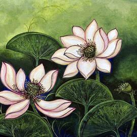 Sucheta Misra - Chinese lotus with gold pollen