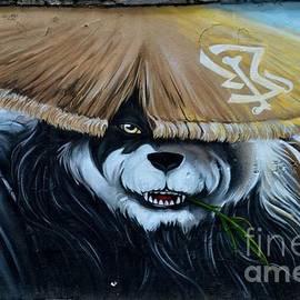 Imran Ahmed - Chinese panda wall graffiti street art Shanghai China