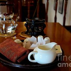 Imran Ahmed - Chinese tea pot cups towel tray and plates